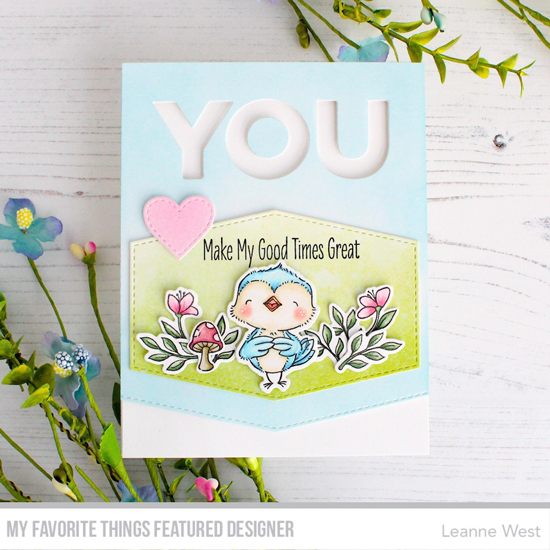 Handmade card by Leanne West featuring products from My Favorite Things #mftstamps