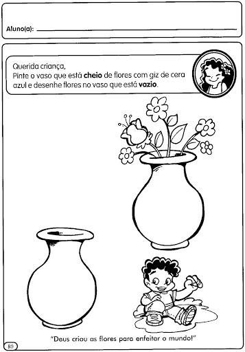 Desenho De Vaso De Flor Vazio Para Colorir