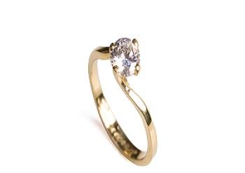 1ced88d7f Sorteio - Anel de Noivado em Ouro com Pedra de Topázio Branco ...