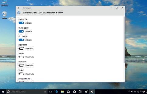 Come personalizzare elenco app Windows 10