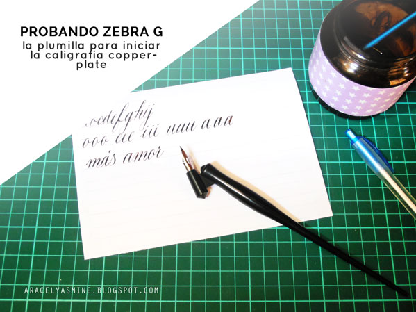 La plumilla zebra G para caligrafía copperplate