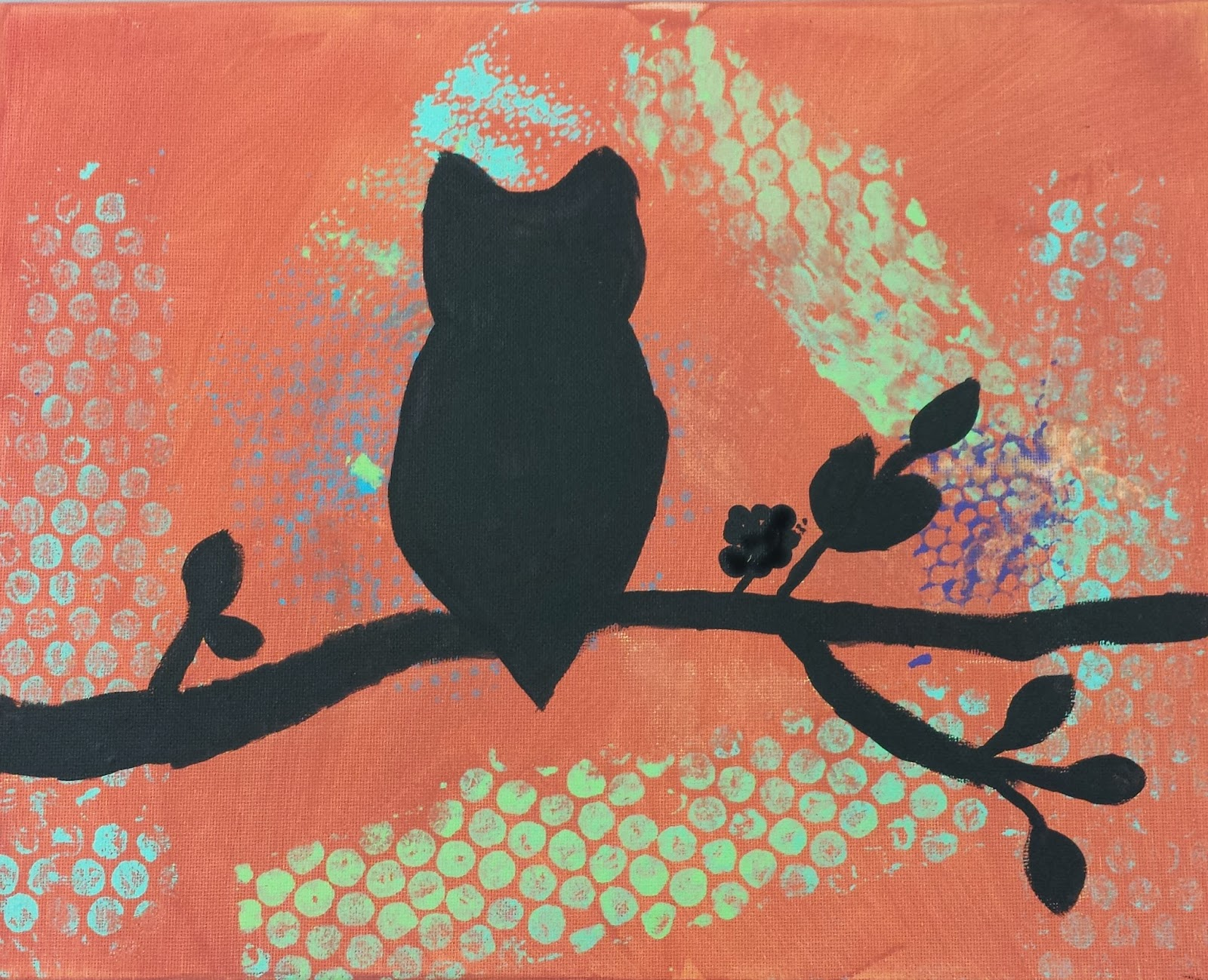 Angela Anderson Art Blog Owl Silhouette Paintings Kids Art Class