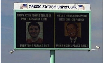 Digital billboard - Holmes - Obama, Aurora