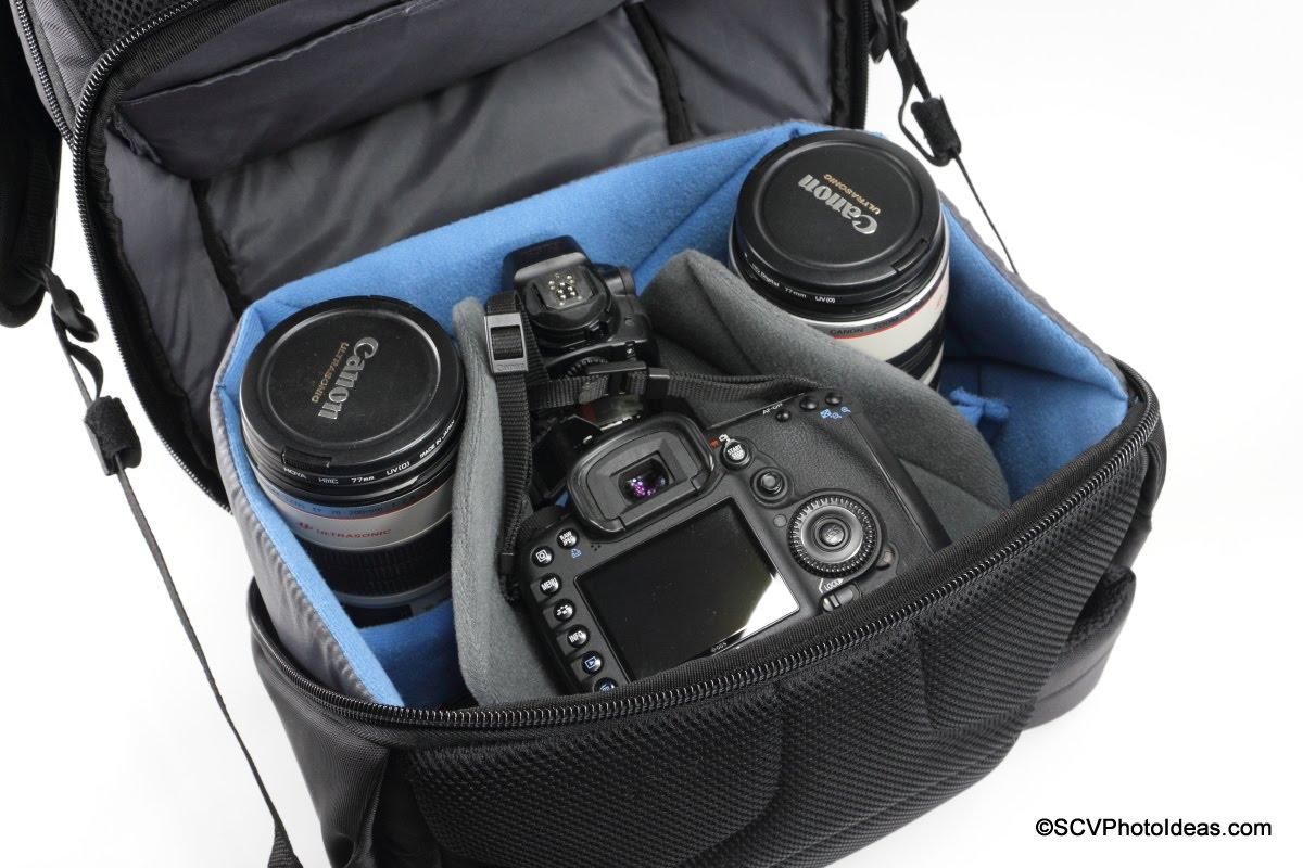 Case Logic DSB-103 main compartment w/ large size camera