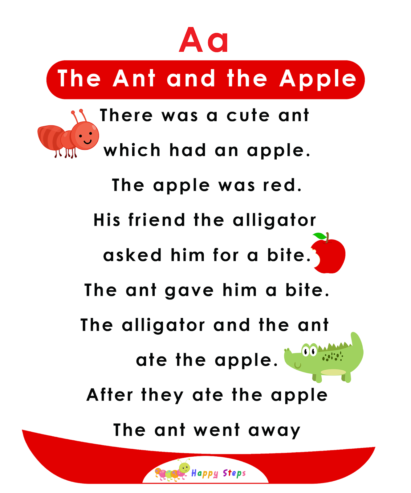 The Ant And The Apple Alphabet Stories