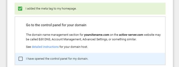 Buka Panel Kontrol untuk Domain