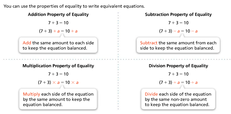 Mr  Giomini's Mathematics Blog: Day 58: Properties of Equality / One