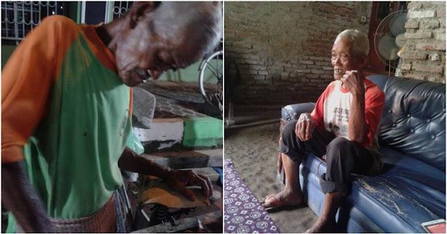 Andalkan Penghidupan Dengan Berjualan Roti Bakar, Perjuangan Kakek Ini Sungguh Mengharukan