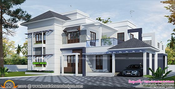 3032 sq-ft modern residence architecture