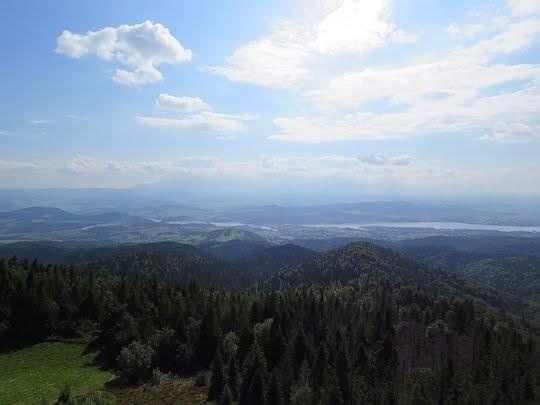 Widok na pradolinę Dunajca i Pieniny Spiskie.