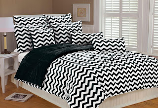 black and white chevron bedspread