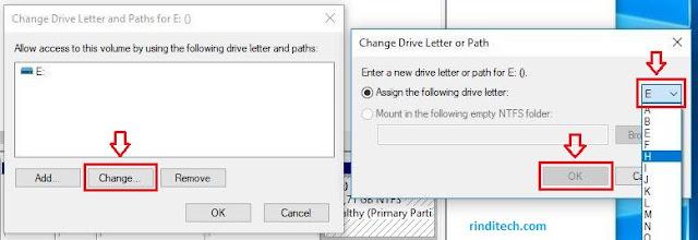 Cara Mengganti Label Local Disk E ke D atau huruf lainnya di Komputer