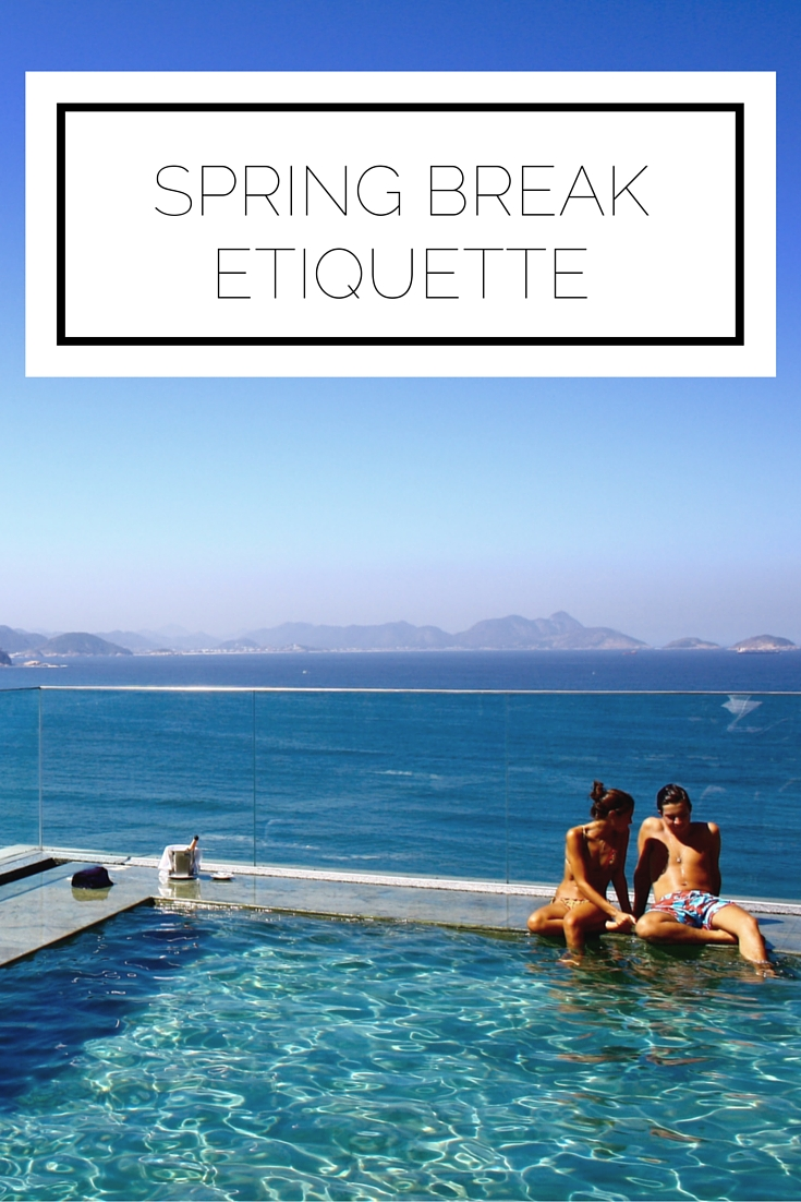 Click to read now or pin to save for later! Getting ready for a spring break trip? Here's the etiquette you need to know