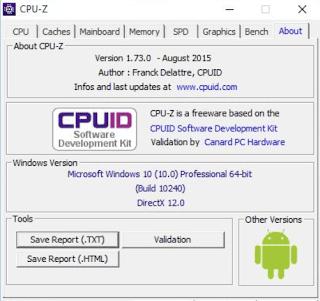 برنامج, معرفة, مواصفات, الكمبيوتر, CPU-Z, اخر, اصدار