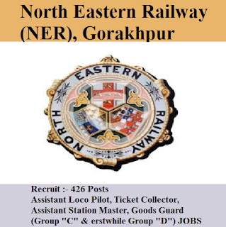 North Eastern Railway, NER, Uttar Pradesh, UP, 10th, ITI, RAILWAY, Railway, Assistant Loco Pilot, Ticket Collector, TC, Station Master, Goods Guard, freejobalert, Sarkari Naukri, Latest Jobs, ne railway logo