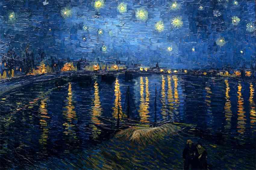 Notte stellata, 1888, Vincent van Gogh (Musée d'Orsay) - Gli scrittori della porta accanto