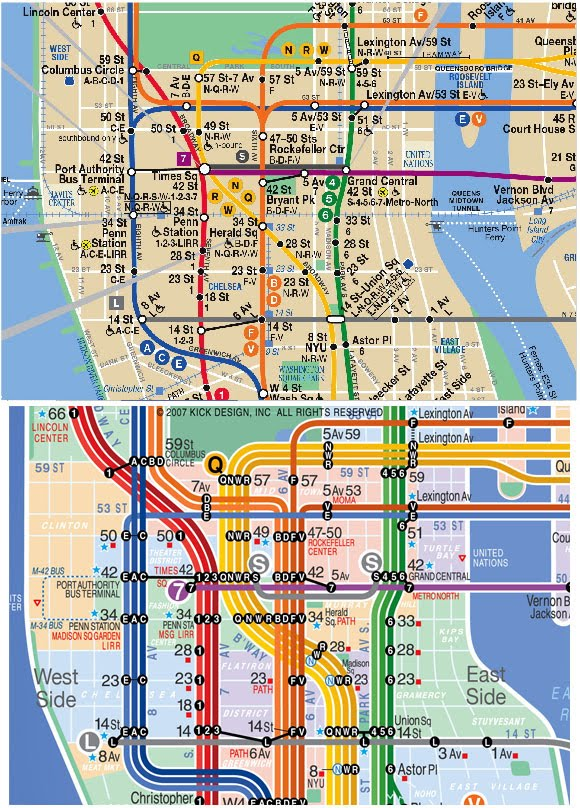Uci Infovis Spring 2011 Public Tansit Maps Nyc Subway Map Project