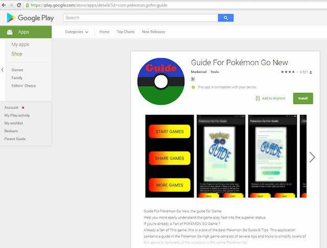 Trojan in Guide for pokemon Go