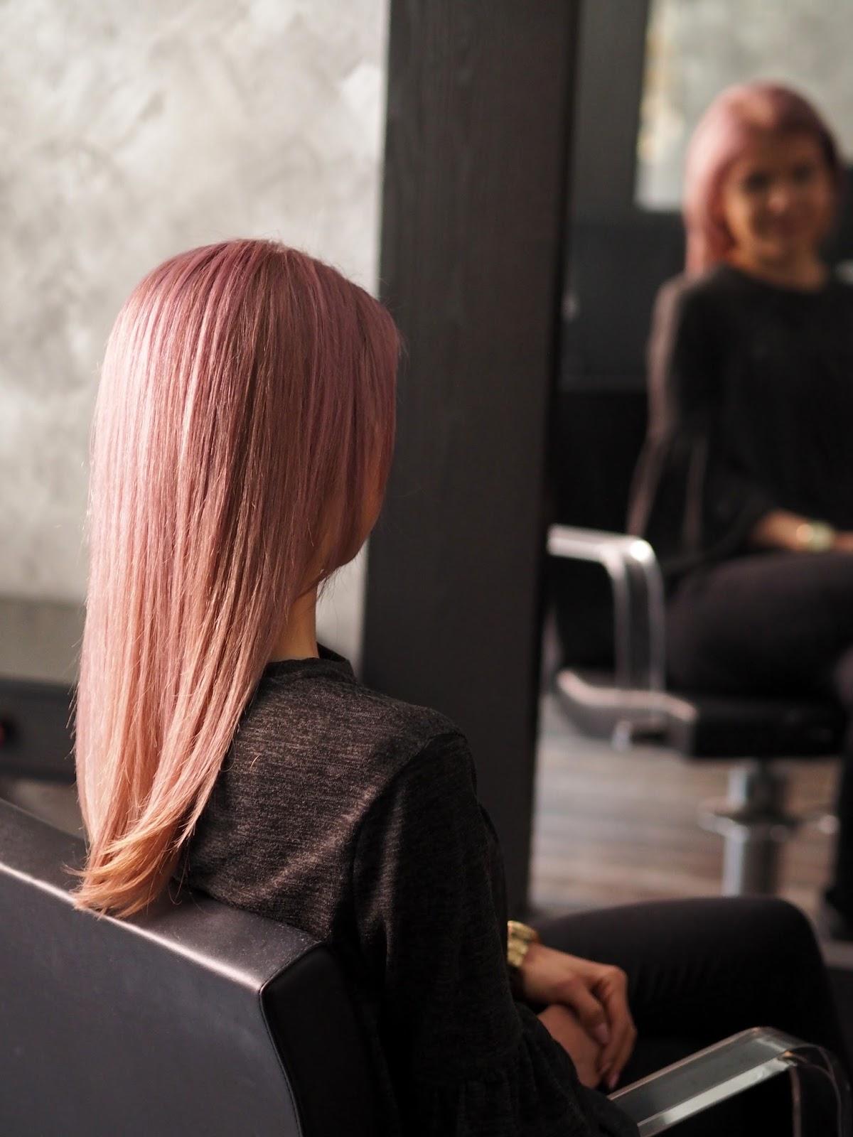 pink hair růžové vlasy přeliv