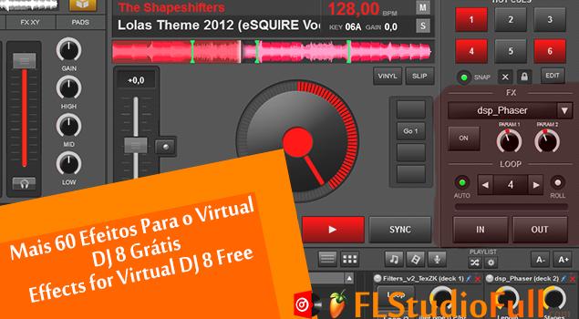 efeitos sonoros para o virtual dj