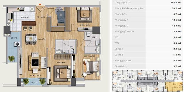 Thiết kế căn B-10 chung cư Mon Central