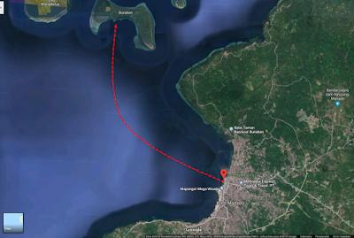 Penyeberangan ke Taman Laut Bunaken