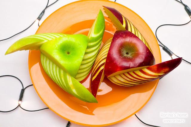Как красиво нарезать яблоки для праздника