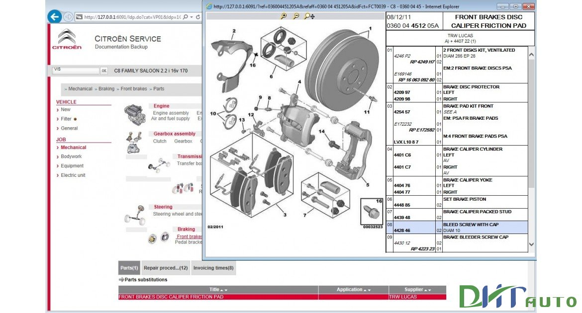 Citroen Parts Catalogue   Service And Repair Sedre 2015