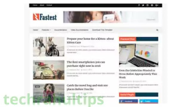 faster fast blogger templates