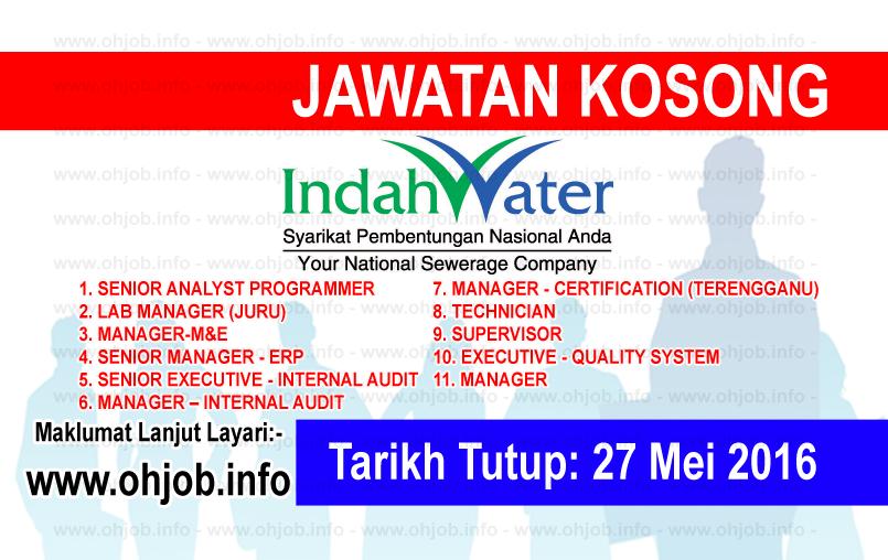 Jawatan Kerja Kosong Indah Water Konsortium (IWK) logo www.ohjob.info mei 2016