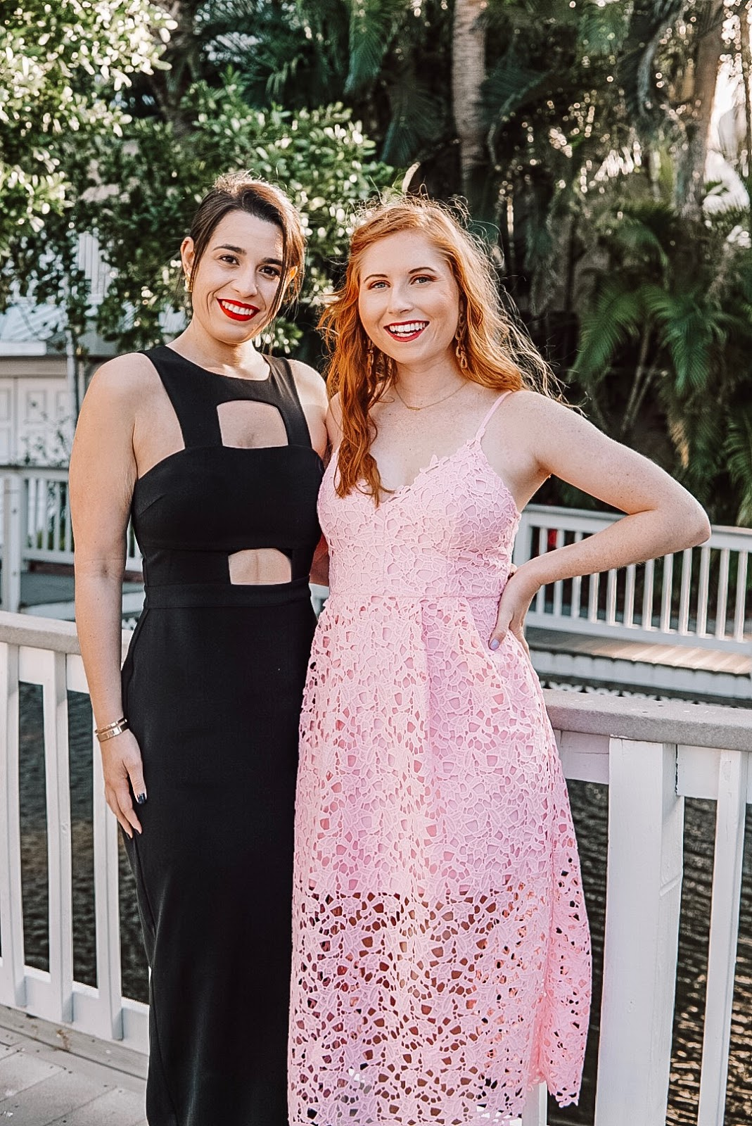 affordable by amanda blogger amanda burrows is wearing a rose astr the label lace midi dress from nordstrom for under $100 springtime dress