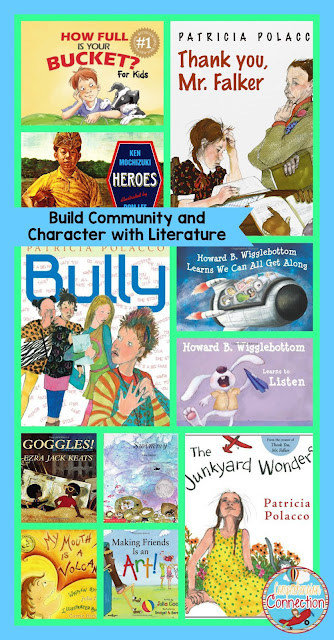 This post includes teaching ideas, mentor texts, links, and freebies for building character in the classroom.