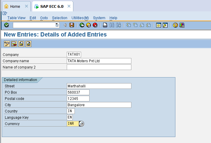 Sap Customer Company Code Table | Elcho Table