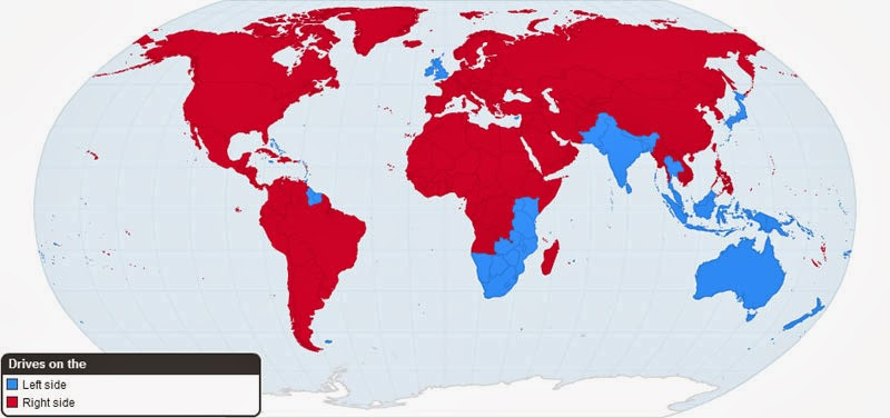 40 Maps That Will Help You Make Sense of the World - Worldwide Driving Orientation by Country