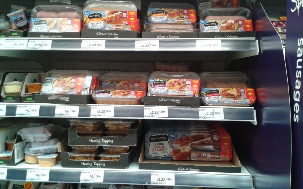 Gluten free sausages at Asda