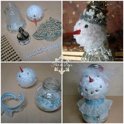 muñecos-de-nieve-reciclando-saleros-flor-de-diys