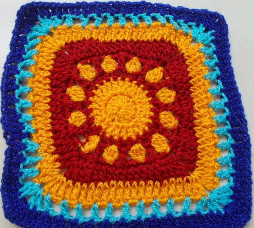 free crochet granny squares pattern