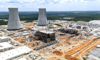 Georgia Power's Vogtle units 3 and 4 under construction (Credit: Engineering News-Record) Click to Enlarge.
