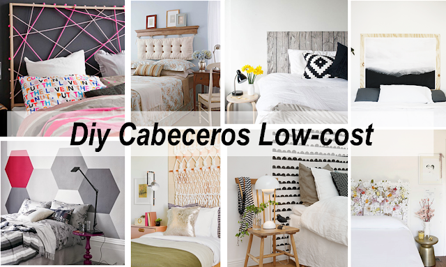 8 cabeceros low cost decoraci n for Cabecero cama diy