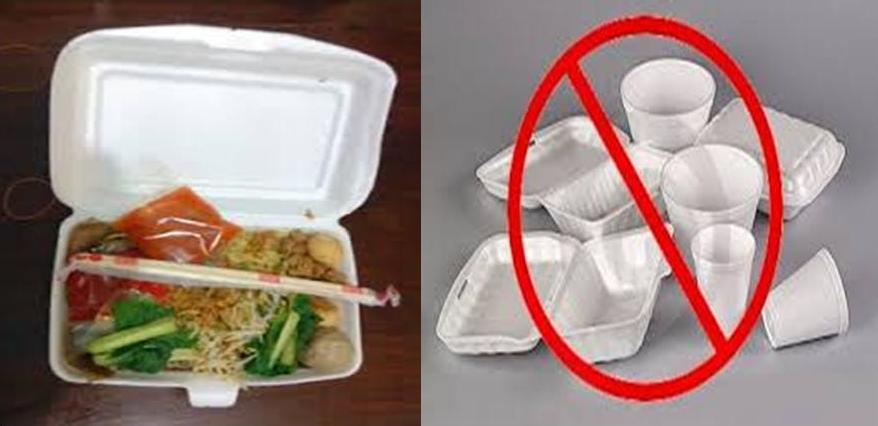 Hasil gambar untuk styrofoam makanan berbahaya