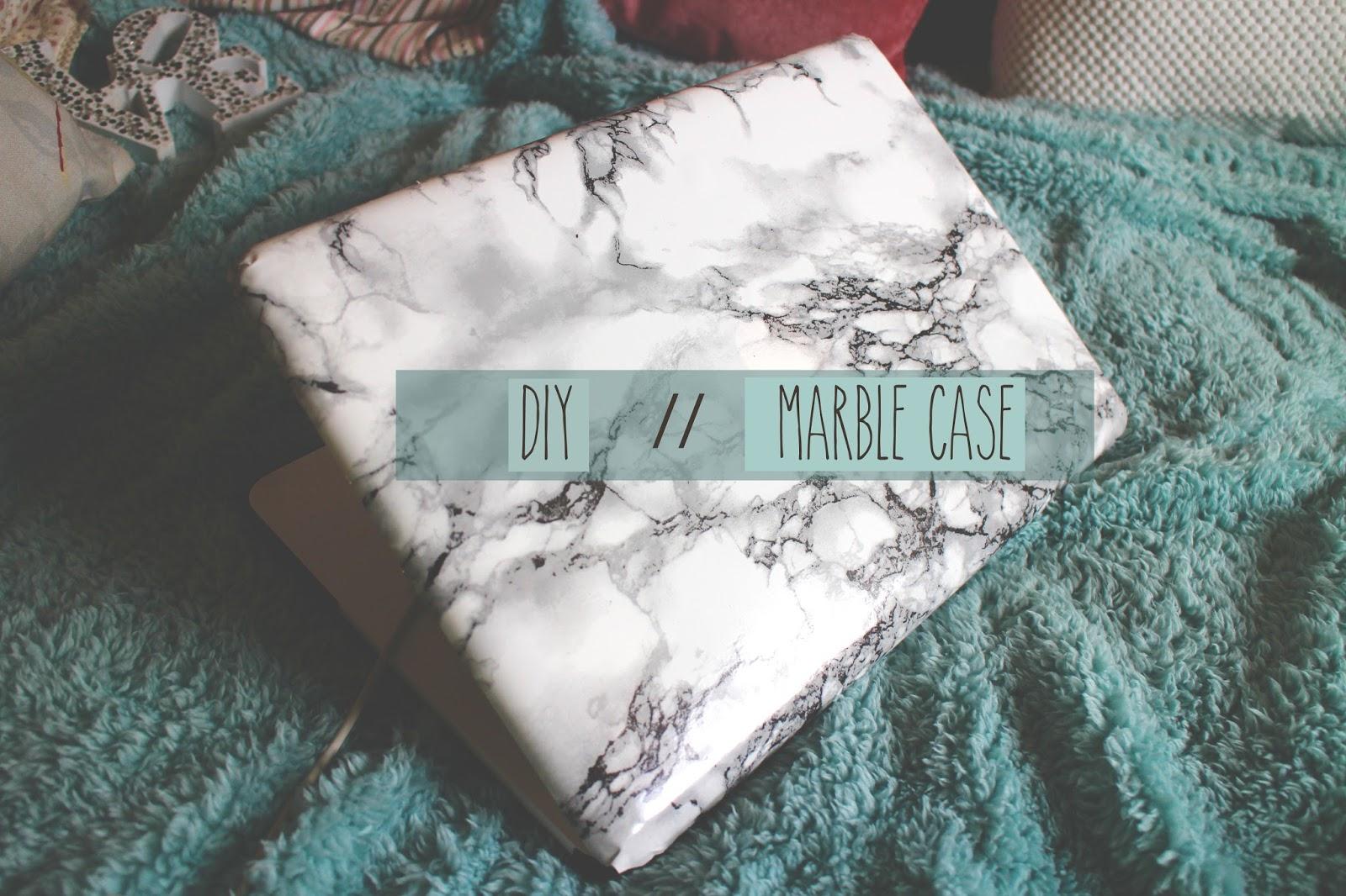 marble macbook case diy blog