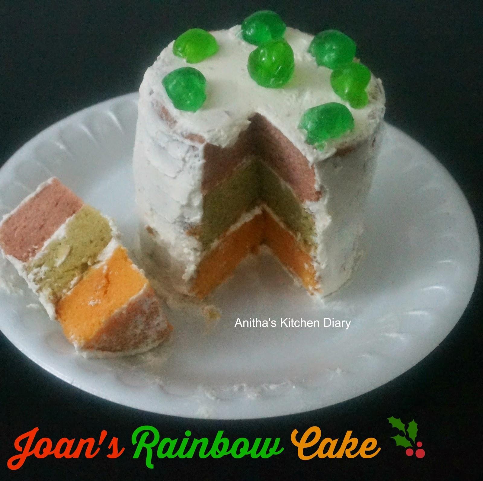 Joans Rainbow Cake