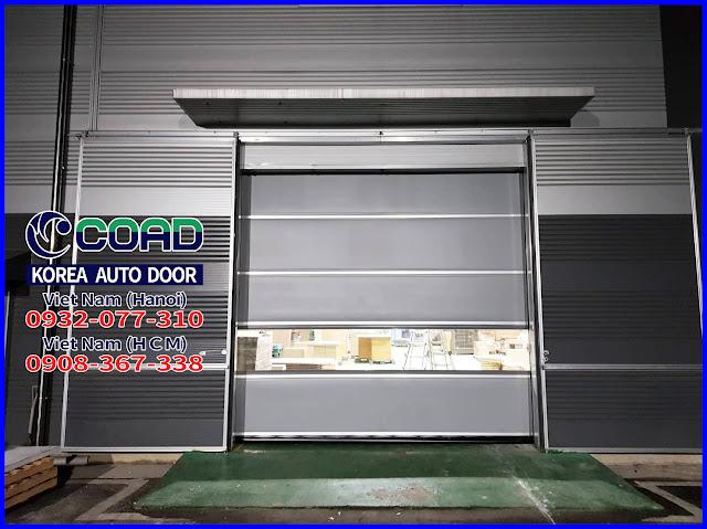 Cửa cuốn công nghiệp, cửa cuốn nhanh, cửa cuốn nhựa pvc, cửa đóng mở nhanh, COAD