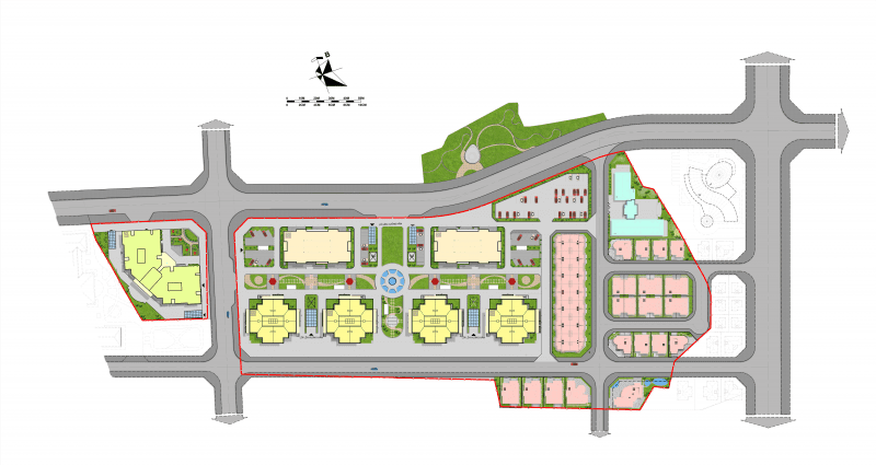 Mặt bằng tổng thể dự án Mipec Kiến Hưng Hà Đông