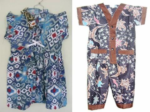 baju batik bayi perempuan