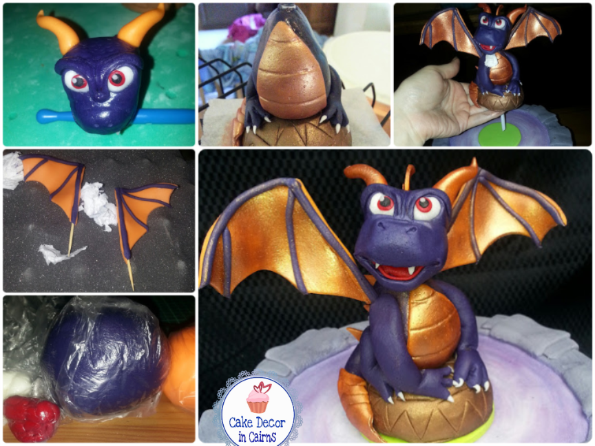 How to make a Spiro Skylander Fondant Cake Topper
