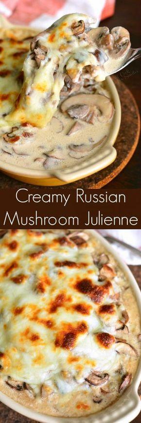Creamy Russian Mushroom Julienne