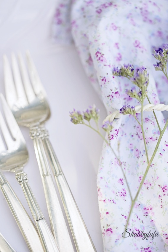 shabby chic couture napkins