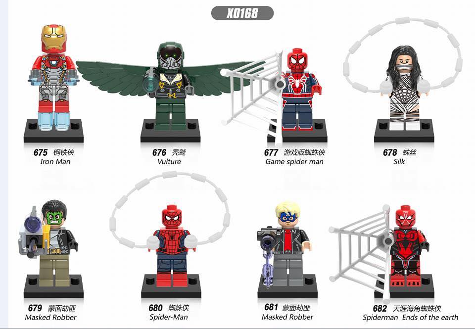 downtheblocks: XINH X0168: Spider-Man Homecoming Minifigs Preview