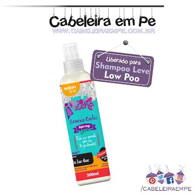 Composição Spray Protetor Térmico Renova Cachos - Salon Line (Low Poo)